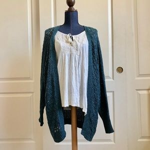 Urban Outfitters Teal Cardigan